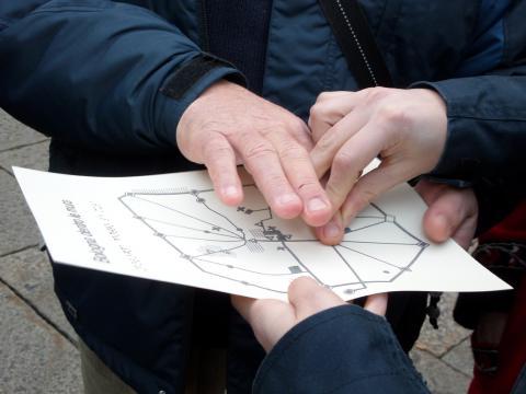 Mappe tattili ci permettono di orientarci nella città