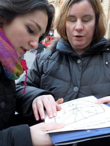 Eccoci in piazza! Comprensione del percorso svolto grazie a mappe tattili